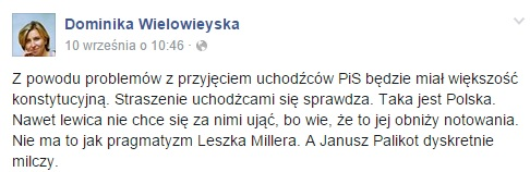 Screen z Facebooka Wielowieyskiej