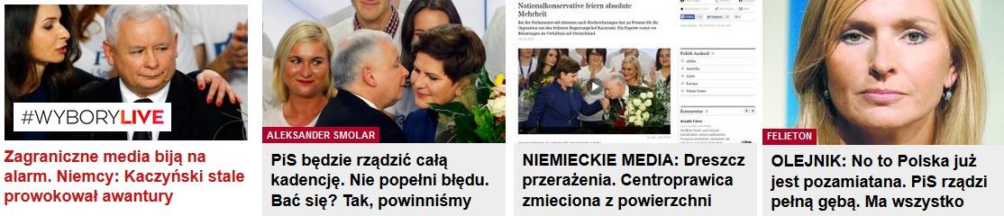 Ból dupy Gazety Wyborczej - powyborcze screeny z głównej gazeta.pl