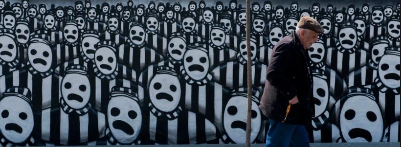 Mural w Grecji, fot: newsweek.com