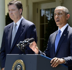 Comey i Obama, fot: Michael Reynolds / PAP