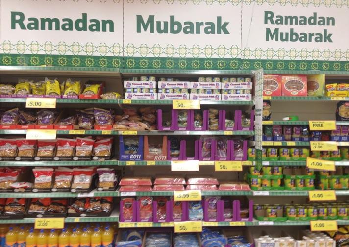 Ekspozycja w londyńskim markecie Sainsbury's