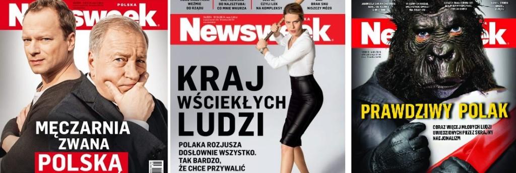 """Wybrane, antypolskie okładki """"Newsweeka"""""""