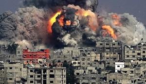 Strefa Gazy - Żydzi przeprowadzają holokaust Palestyńczyków
