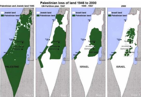 Tak rozprzestrzeniała się żydowska okupacja Palestyny