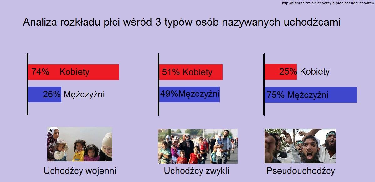 Uchodzcy wykres płeć