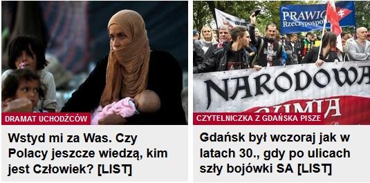 Screeny z głównej strony Gazeta.pl - Żydzi oceniają Polaków