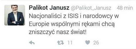To ciężko w jakikolwiek sposób skomentować... Kliniczny syndrom Magdaleny Środy , która za zamachy w Paryżu obwiniła polskich kiboli.