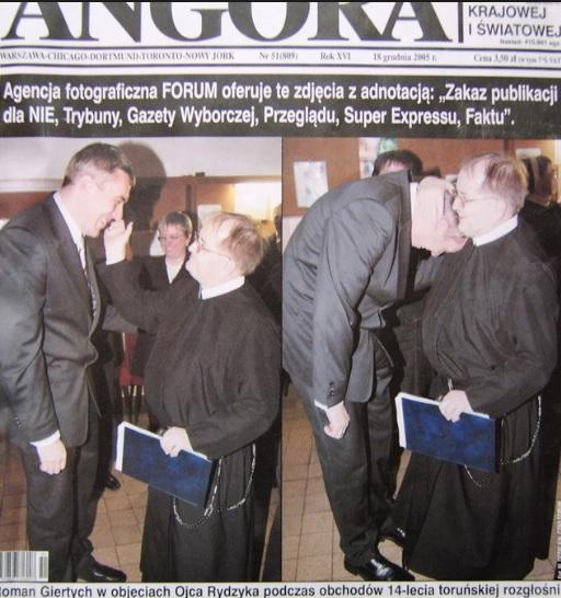 """Stara okładka z Giertychem i Rydzykiem - w obecnej Angorze nigdy takie coś by się nie pojawiło, bo Giertych jest już """"nawrócony"""""""