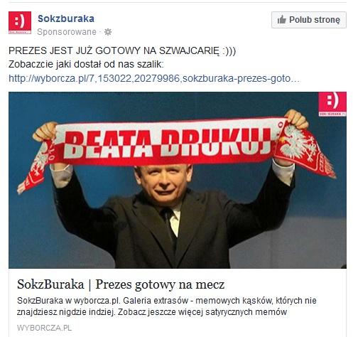 Reklama sponsorowana Soku z Buraka - co chwilę mi to wyskakuje na pejsbuku