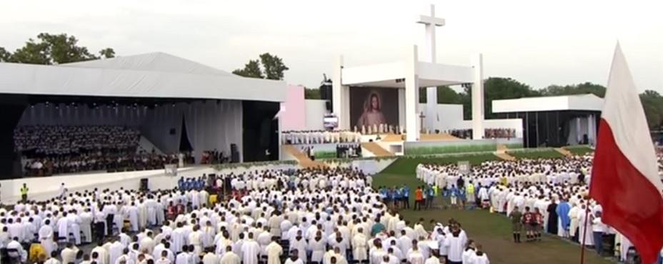 ŚDM - Msza inauguracyjna, fot: screen z youtube